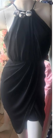 Black Drape Dress S8,10