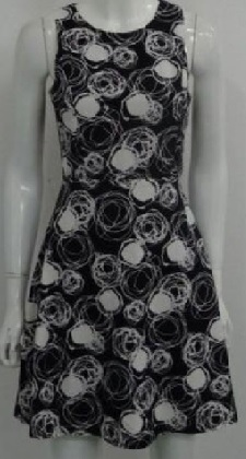 Mini Black White Aline Dress S6,8,10