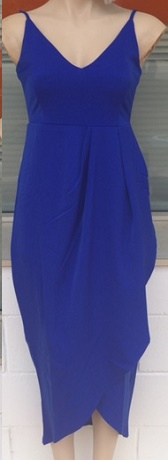 Blue Drape Dress S8