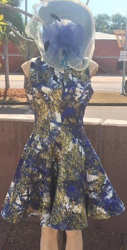 Dont Miss Me Blue Print Dress S10,12