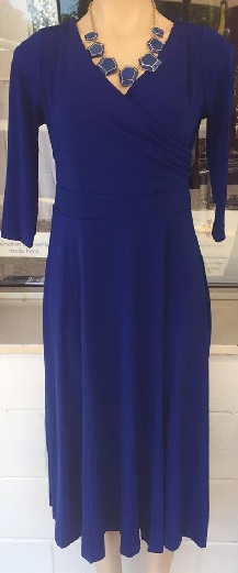 Sleeved Jersey Dress Blue S8,10/12 Burgandy S8,10,12,14/16