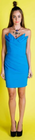 Blue Strapless Dress S12