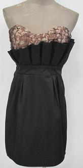 Brown Black Fan Dress S8,12