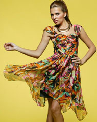 Butterfly Silk Dress S12