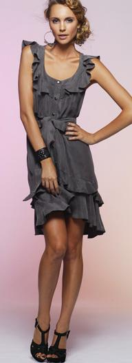 Combat Frill Dress Black S14