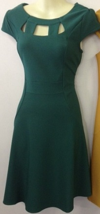 Green Skater Cutout Dress S16