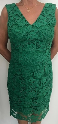 Structured Green Lace Dress S14