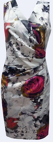 Grey Shade Floral Dress S8,14,16