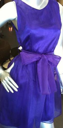 Purple Organza Dress S8,10,14