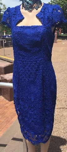 Cobalt Lace Dress S10,12,14,16 Navy S12,14,16