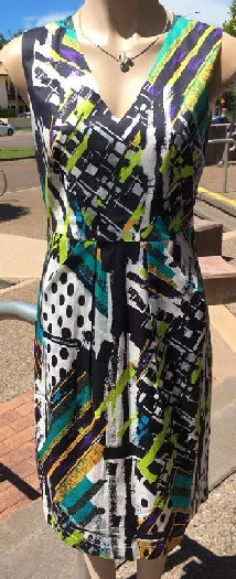 Multi Print Pencil Dress S10,12