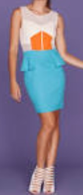 Orange Blue Peplum S12