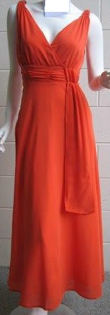 Orange Chiffon Dinner Dress S10,12,14 Red S8,10,12,14 Purple S8,10,12,14