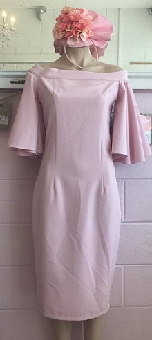 Pink Sleeve Dress S12