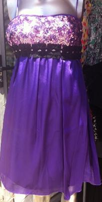 Purple Sequin Dress S8,10,12,14