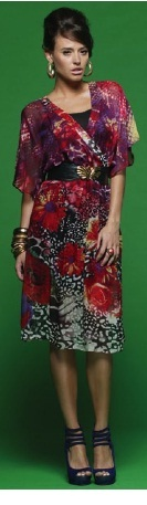 Print Silk Dress with Slip S16/18