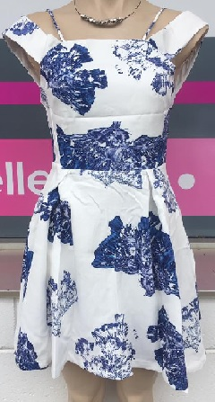 Skater Blue White Dress S6,8,10,12