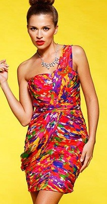 One Shoulder Spirit Free Dress Silk S12,14