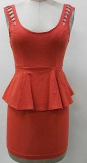 Peplum dress Tangerine 8,12  Black -12 (small sizing)