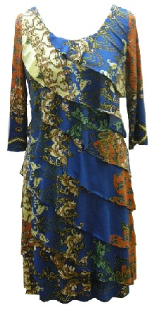 Print Layer with Sleeves Dress S10/12
