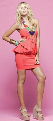 Mini Time Dress Coral S10
